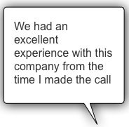We had an excellent experience with this company