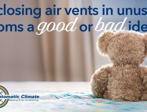 Is closing air vents in unused rooms a good or bad idea?